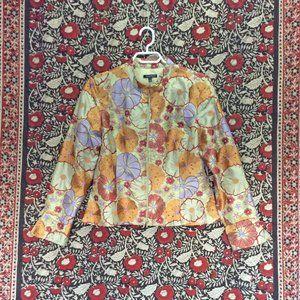 Silk Floral Embroidered Jacket